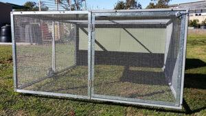 master-chicken tractor door closed